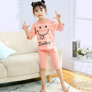 Girls Pyjamas Baby Kids Inflant Boys Cotton Children New Summer Half for Suit