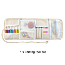 Professional Home Ergonomic Knitting Tool Set Easy Apply Needle Practical Portable Hand Craft Colorful Crochet Hook Bag Packed(China)