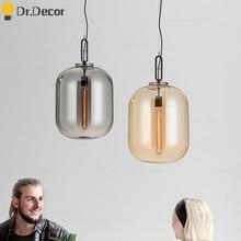 Modern LED Glass Pendant Lights Bar Cafe Light Art Home Decor Indoor Lighting Hanglamp Kitchen Hanging Lamp Luminaria