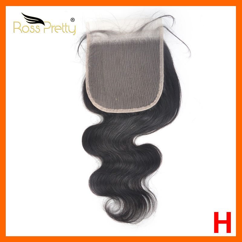 Rosspretty Hair 5x5 Transparent Lace Closure Peruvian Body Wave 10-24 Inch 100% Remy Human Hair Closure Free Shipping