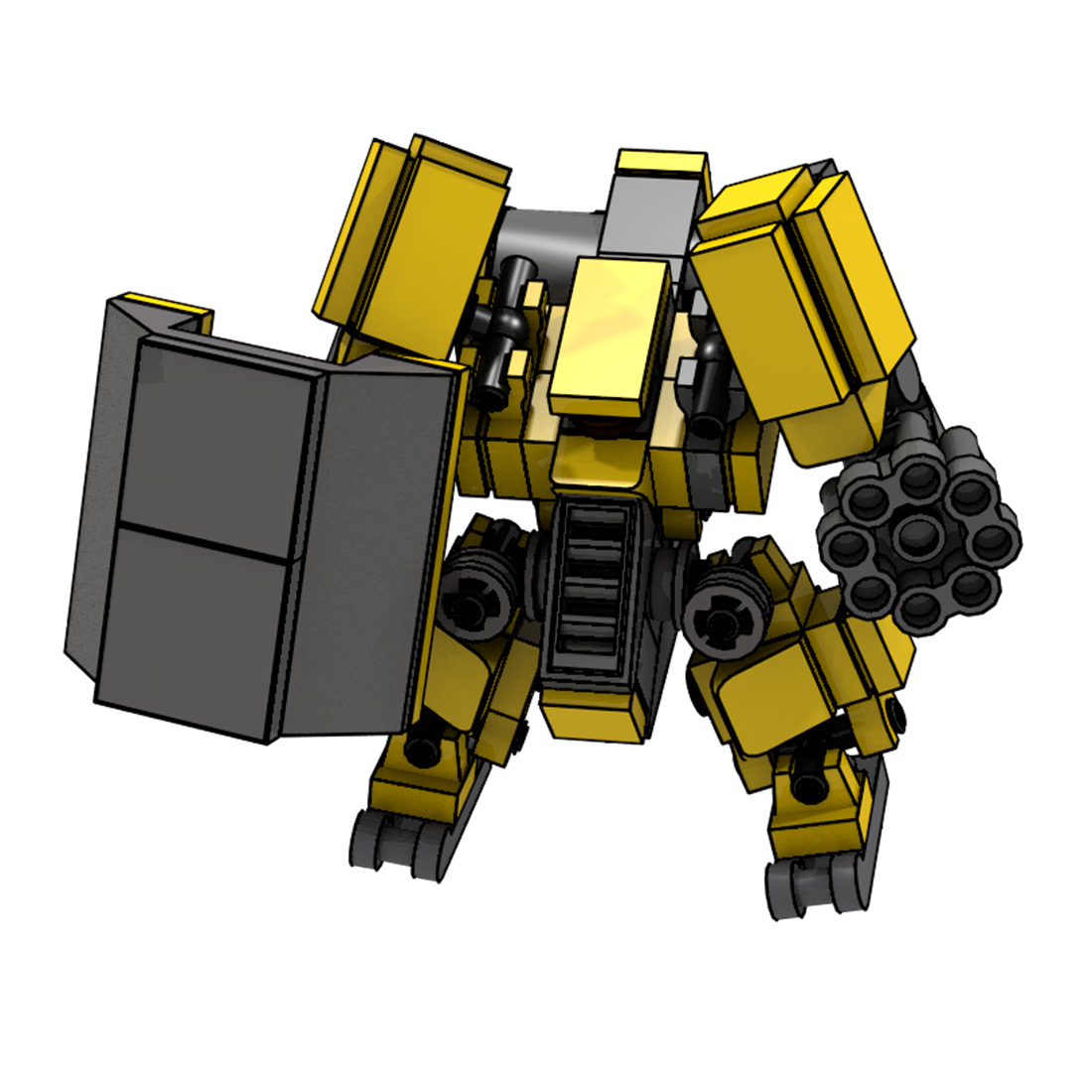 MODIKER STEM MOC Mini Mecha Steel Block Model Small Particle Building Blocks Educational Toy Children Birthday Gift