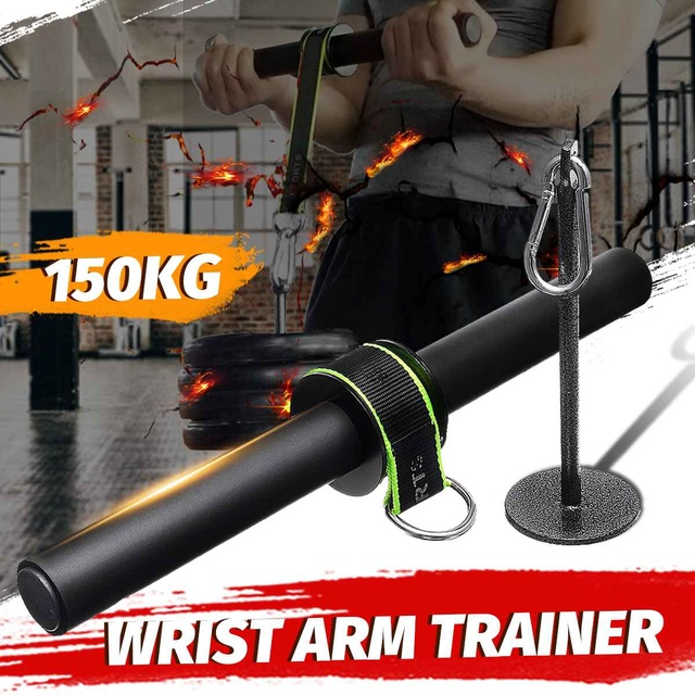 Forearm Strength Trainer Wrist Hand Grip Hand Strength Exerciser Weight Lifting Rope Waist Roller Equipment Gym Fitness Workout 6