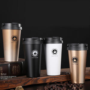 Cute Cups Coffe-Mugs Gifts Eco-Friendly Cafe Stainless-Steel Travel 500ml with Tea Lid
