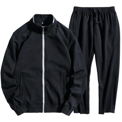 Men Loose Style Sport 100% Cotton Big Size 130KG Can Wear 7XL8XL Camouflage Outdoor Gym Sportswear Zipper Run Jogging Suit