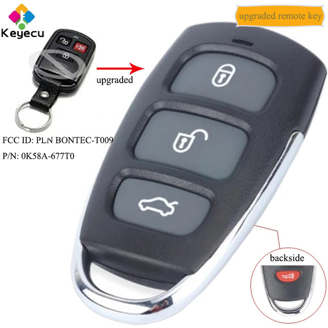 KEYECU ترقية مفتاح السيارة التحكم عن بعد لكيا الأطياف أوبتيما سورينتو Sedona فوب FCC ID: PLN BONTEC T009 ، P/N: 0K58A 677T0