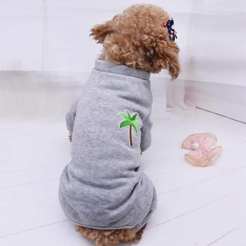 Модный свитер с принтом собаки кошки ворса из флиса кокосового дерева теплая одежда для щенков одежда для маленьких собак