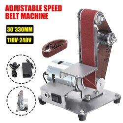 350W Mini máquina de cinta eléctrica lijadora pulidora cinta abrasiva molinillo DIY cortador bordes