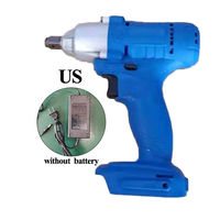 21V 460 N.MCordless Electric Wrench Brushless Socket Wrench Manual Drill US /UK/EU Plug Two Speed Charger Recharge