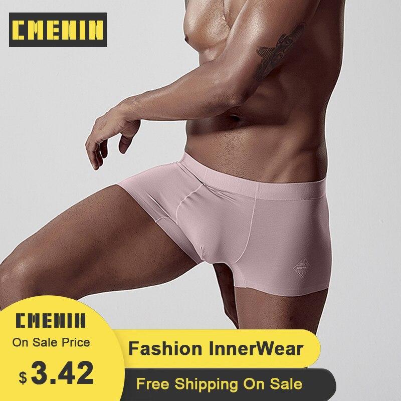 CMENIN 2020 Boxers Men Modal Cotton LOGO Low Waist Boxer Men Underware Boxers Trunks Sexy Mens Underwear Boxershorts Sexi AD308