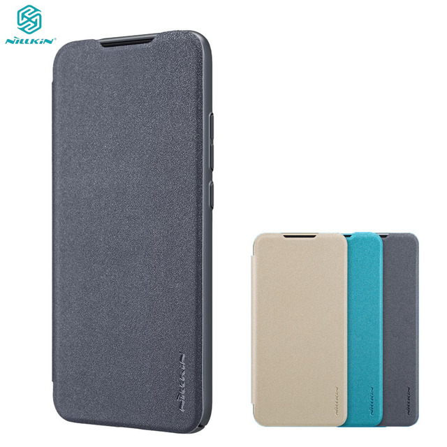 For Xiaomi Redmi 7 5 6 6A Flip Case NILLKIN Sparkle Luxuly super thin flip cover PU leather case for Xiaomi Redmi Y3 Phone Bags