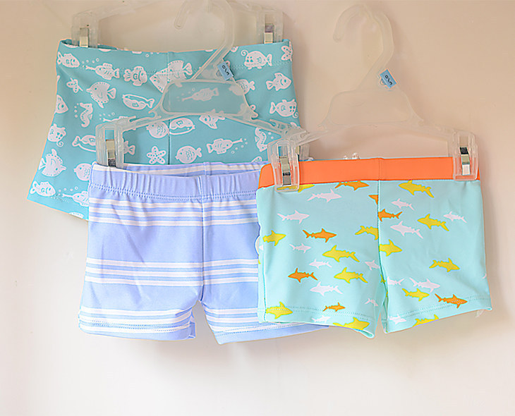 BOY'S Multi-color Refreshing Boxer Swimming Trunks Cute Cartoon Lace-up Kids BOY'S Infants Baby Swimming Trunks