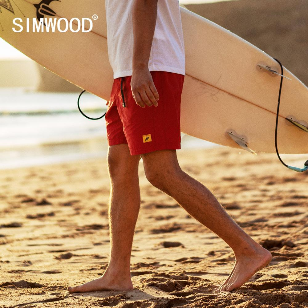 SIMWOOD 2020 Summer New Beach Shorts Men Fashion Thin High Quailty Drawstring Casual Holiday Belted Shorts SJ150166