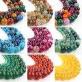 4/6/8/10/12 мм Разноцветные зеркальные бусины 37 стилей зеркальные бусины браслет 15 дюймов