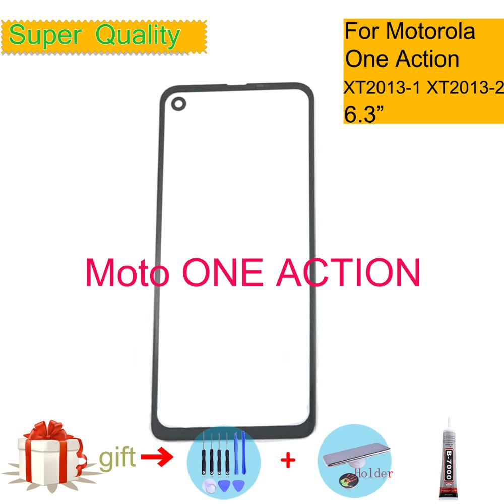 For Motorola Moto ONE Action XT2013-1 XT2013 Touch Screen Front Outer Glass Panel Lens For Moto One ACTION LCD Front Replacement