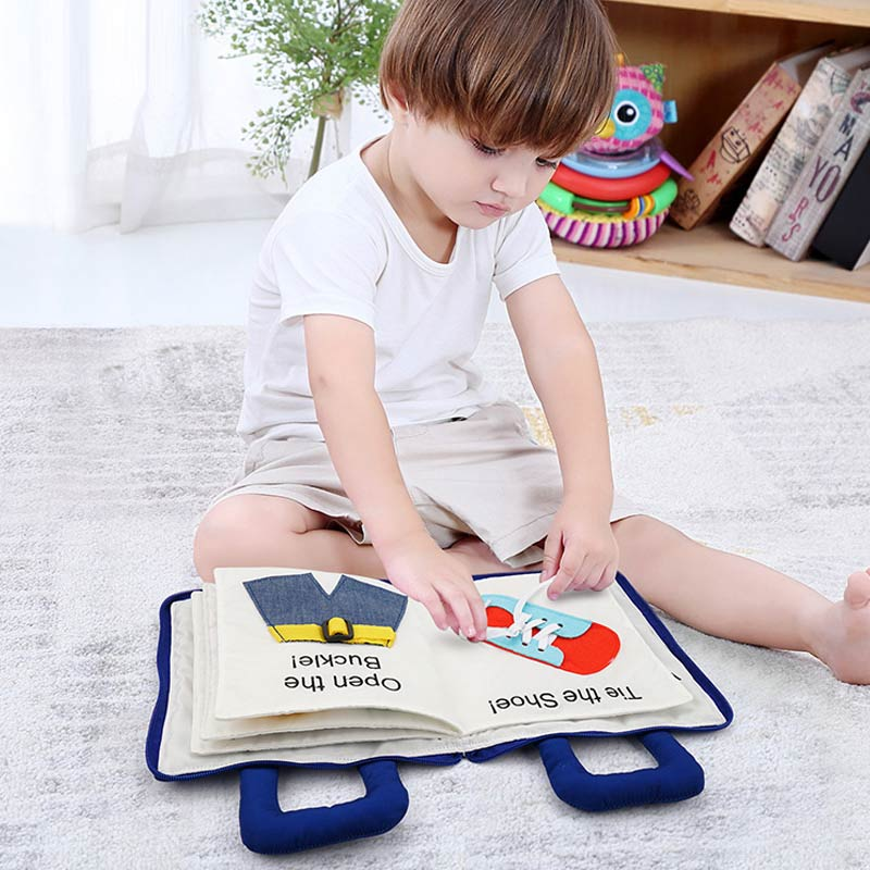 Montessori Toys for Kids 1 Year Old Baby Books Learning Education 3D Quiet Fabric Activity Story Book for Toddlers 2 Years Gifts 1