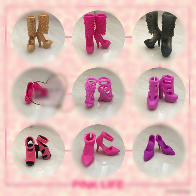 1/6 Doll shoes Single shoes, flat feet, sneakers, sandals, slippers flats for Barbie Doll shoes 1/6 1