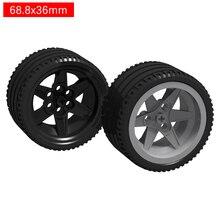Technic Parts Wheel 44772 15038 Tire  44771 68.8mmx36mm