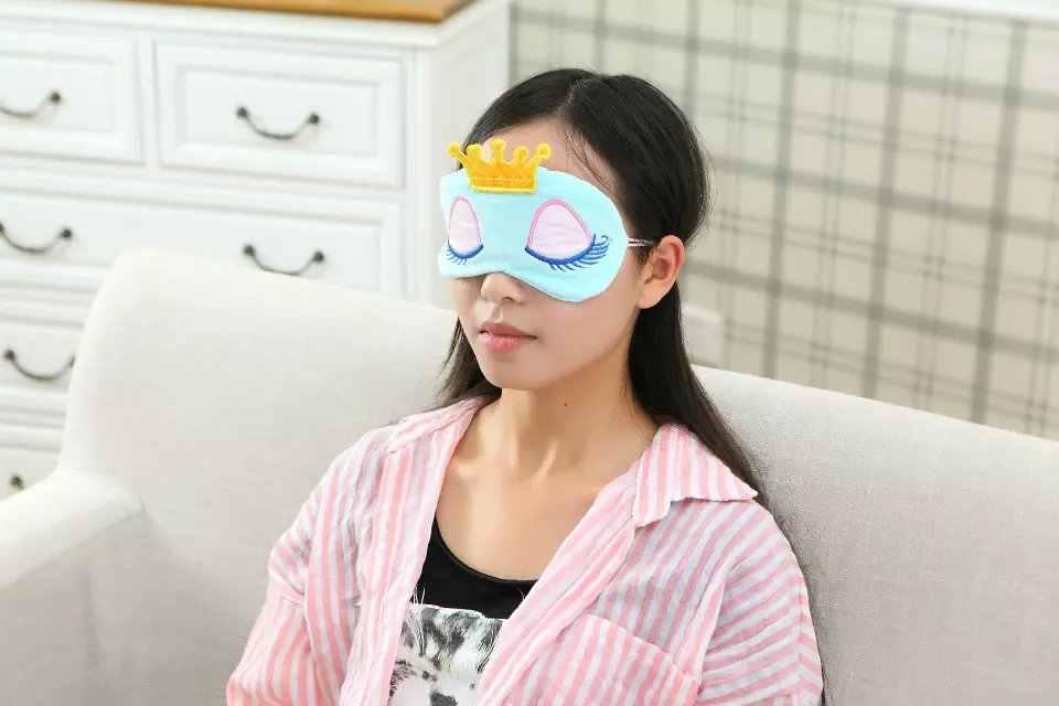 Giấc ngủ Mắt Khẩu Trang Hoạt Hình Mặt Nạ Ngủ Mèo Kawaii Đệm Mắt Du Lịch Sang Trọng Mắt Bóng Bao Eyeshade Kỳ Lân Thái Nhà Làm Quà