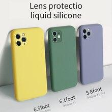 Многоцветный мягкий жидкий силиконовый чехол для телефона для Apple iPhone 11 чехол 11 pro Max без запаха и нетоксичный чехол для iPhone 11 Pro Max