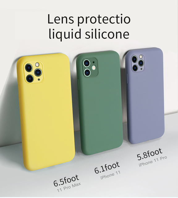 Multi-color Soft Liquid silicone Phone Case For Apple iPhone 11 case 11 pro Max Odorless and non-toxic Case for iPhon 11 Pro Max