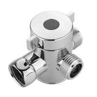 "3 Way Tee Connector Shower Head Diverter Valve G1/2"" Three Head Function Switch Adapter Valve For Toilet Bidet Shower"