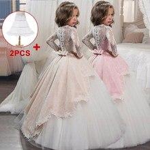 Розничная ; Детские вечерние платья; кружевное бальное платье; Платья с цветочным узором для девочек на свадьбу; платья для первого причастия для девочек