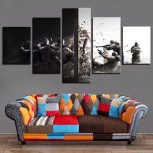جدار المشارك و يطبع البوب لعبة صورة 5 قطع قوس قزح ستة الحصار قماش اللوحة الإطار الفني HD يطبع ديكور المنزل غرفة الاطفال