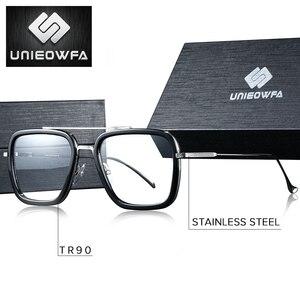 Image 2 - Optique ordinateur lunettes hommes cadre Anti lumière bleue bloquant Prescription lunettes cadre myopie clair jeu lunettes cadre