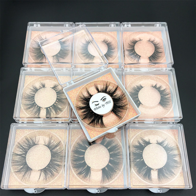 Custom box MIKIWI 24 Styles 5D soft dramatic Eye lash high volume makeup tools 100% handmade natural thick  long false eyelashes 5