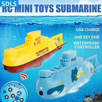 Min RC Boats Simulation Speed Boat Electric RC Toys Electric Submarine Model Ship With LED Light Kids Toys Gifts New