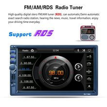 RK-7156G 2Din 7inch Car MP5 Bluetooth FM/RDS Car Radio HD Touch Screen GPS Navigation Car Multimedia Player Support USB TF(China)