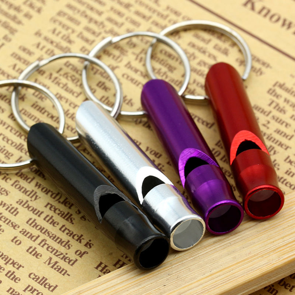 2pcs Aluminum Alloy Whistle Survival Emergency Whistles Keychain For Camping Hiking Sport Outdoor Multifunctional Tools Hot
