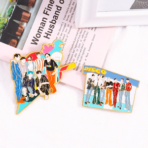 KPOP Bangtan Boys Pins Enamel Pin Disco Brooch for Bag Hat Clothes Lapel Pins Metal Badge Accessories Jewelry Gift for Fans