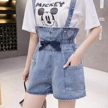 Shorts Overalls Clothing High-Waist Large Plus-Size Women's Summer Fashion Denim Basic