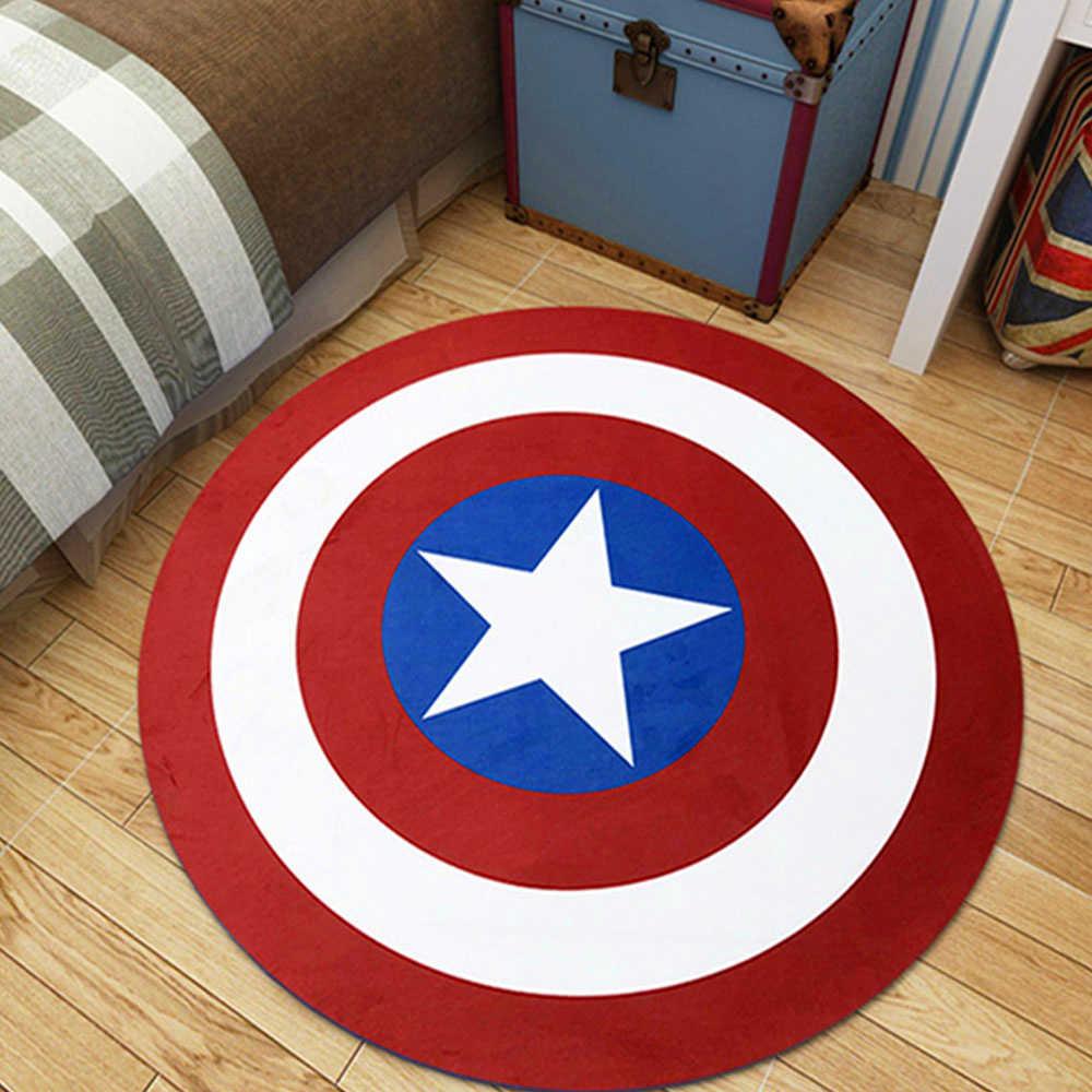 Grande tamanho os vingadores tapete marvel brinquedos de pelúcia esteira batman homem de ferro capitão américa flanela presente esteiras para crianças