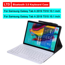Bluetooth 3.0 Tablet Keyboard Case For Samsung Galaxy Tab A 2019 T510/T515 10.1 inch Mediapad Flip Leather Protective Cover