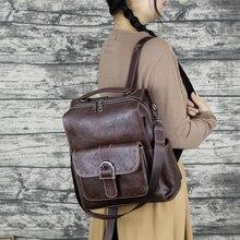 2021 moda kobieta plecak o dużej pojemności Pu skóra kobiet plecaki na co dzień tornister na studia Vintage klasyczna torba na ramię