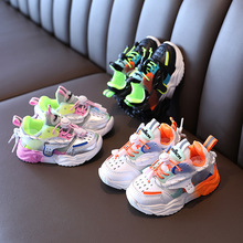 New Children Shoes Girls Boys Casual Shoes Fashion Colorblock Breathable Soft Leather Non-slip Toddler Sneakers for Kids 21-30 cheap HUMOR RABBIT 7-12m 13-24m 25-36m 4-6y CN(Origin) Spring Autumn Rubber COTTON Fits true to size take your normal size