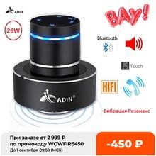 Adin-Altavoz Bluetooth con vibración, Centro de música inalámbrico, Subwoofer, columna grande de Audio, portátil, para teléfono, 26w