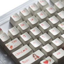 PBT Sublimation Love Theme Backlit Keycaps 104 Keys Cherry Mx Switches Key Caps with Keycaps Puller for Mechanical Keyboard недорого