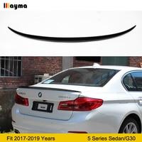 Karbon Fiber arka bagaj BMW için rüzgarlık 5 serisi sedan 525i 530i 540i 2017 2018 2019 yıl G30 M5 stil CF spoiler kanat