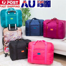 Unisex Adult Travel Bag Big Size Solid Foldable Nylon Soft Waterproof Luggage Bag Storage Carry-On Duffle Bag Suitcase