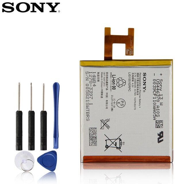 Orijinal yedek Sony pil SONY Xperia Z için L36h L36i c6602 SO 02E C6603 S39H LIS1502ERPC LIS1551ERPC orijinal 2330mAh