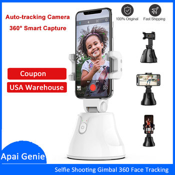 Apai Genie Smartphone Selfie Shooting Gimbal 360° Face & Object Follow Up Selfie Stick for Photo Vlog Live Video Record