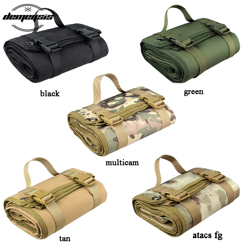 Military Tactical Shooting Mat Outdoor Waterproof Hunting Airdoft Paintball Camping Mat Molle Climbing Cs Combat Picnic Blankets