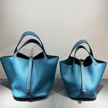 Classic Handbags women bag Genuine leather luxury brand design Cow leather bag women