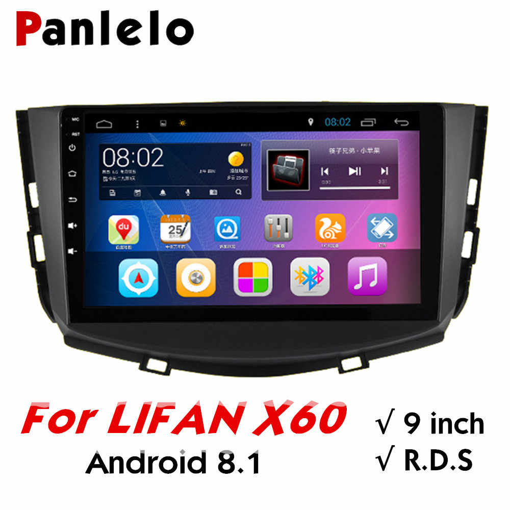 Panlelo For LIFAN X60 Android 8.1 Autoradio Car Head Unit 9 inch Car Stereo Car Multimedia Player Build-in Wifi GPS AM/FM/RDS