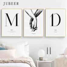 Citação palavras estilo nórdico pintura da lona simples amor cartazes e impressões para sala de estar casais pintura da arte parede decoração casa