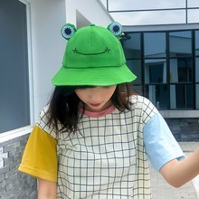Caps Frog Sun-Beanies Cute Summer Fisherman-Hats Designer Fashion Cartoons Children Women