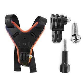 цена на High Quality  Motorcycle Helmet Chin Mount with Phone Holder Bracket for GoPro Hero7/6/5 Camera Motorcycle Helmet Camera